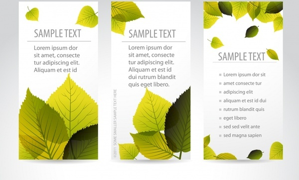 vector beautiful maple leaf bookmarks