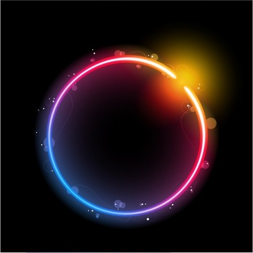 solar system background dark sparkling colorful round light