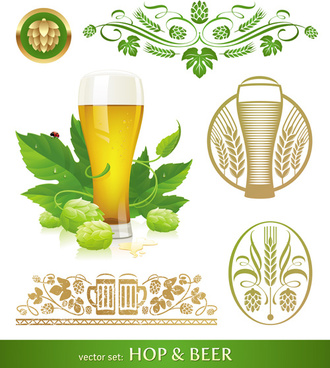 vector beer label background graphics