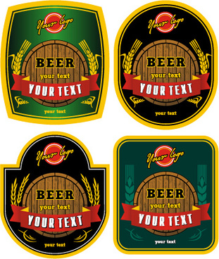 vector beer labels retro style