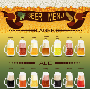 vector beer menu creative design graphic
