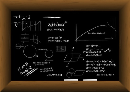 blackboard background math formulas black white hanndrawn decor