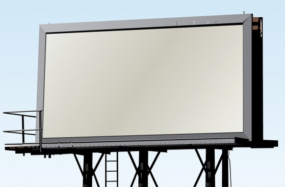 ad billboard template modern 3d sketch