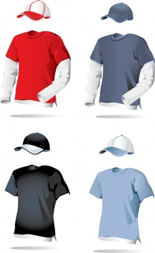 man casual clothes templates young design 3d sketch