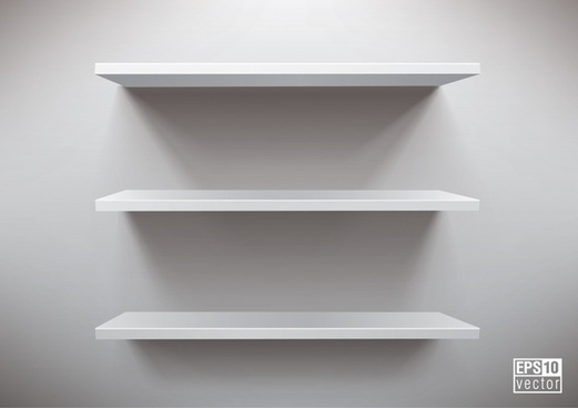 decorated shelf template modern elegant simple 3d sketch