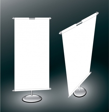 rolled up banner frame templates modern 3d sketch