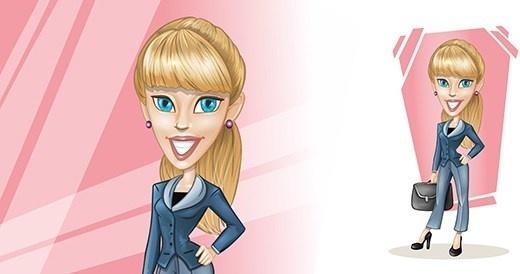 vector blonde businesswoman