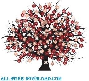 Vector blossomed tree
