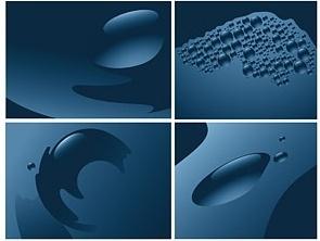 vector blue drops