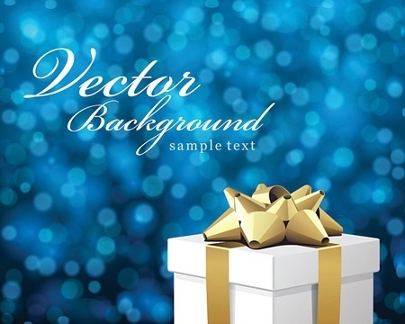 christmas background design gift box decoration bokeh style