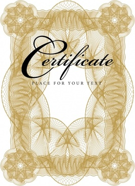 certificate frame template elegant seamless symmetrical decor