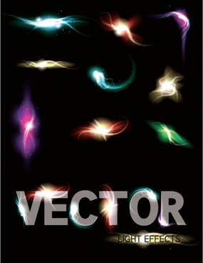 vector bright glow lighting effects