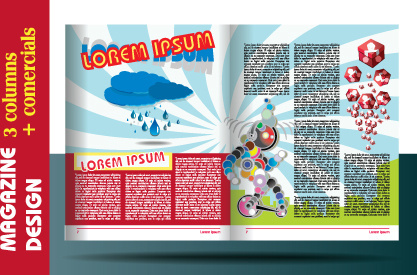 magazine design layout template free vector download 14 554 free