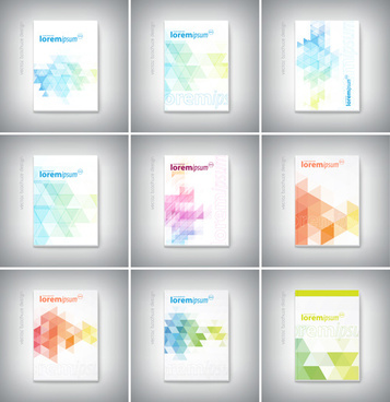 vector brochure cover design set