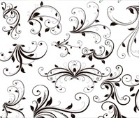 Vector brushes Stylish Swirls