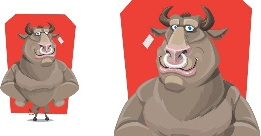 vector bull character