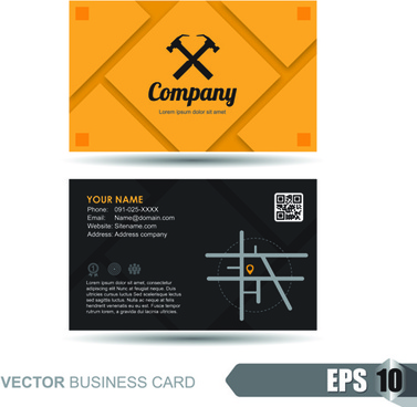 vector business card company design template