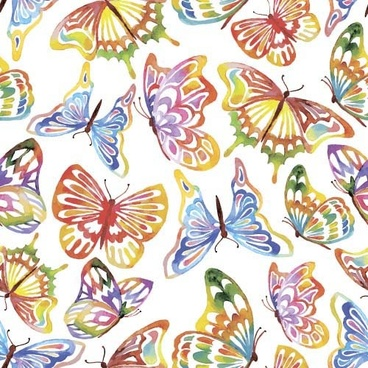 vector butterflies seamless pattern design