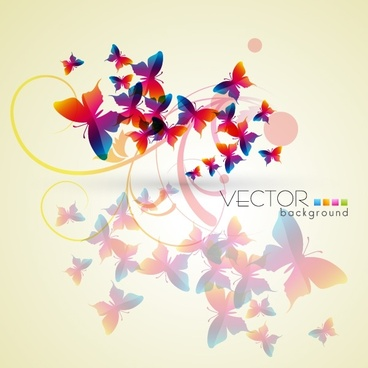 vector butterfly dream glare
