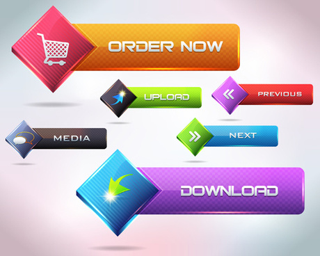 vector buttons picture web design
