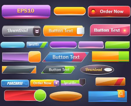 vector buttons picture web design