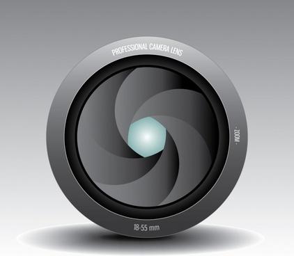 vector camera lens aperture shutter