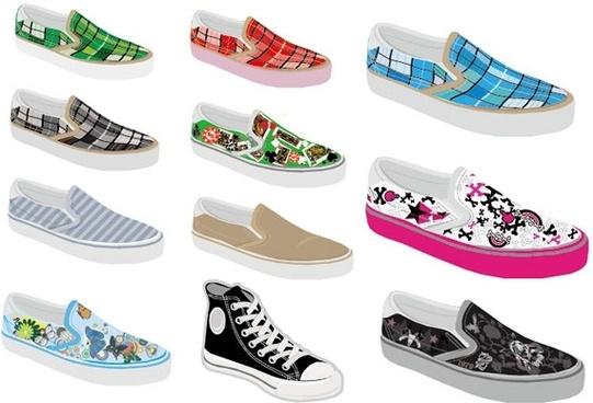 vector canvas shoes original