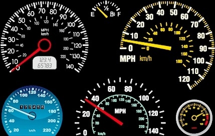 car mileage displays design various circle style