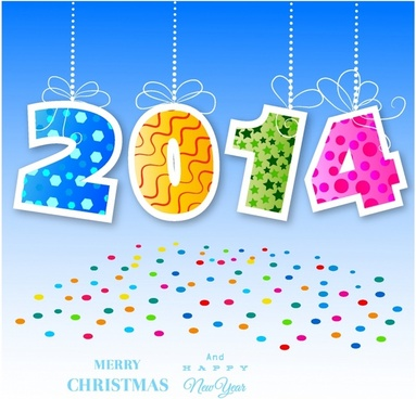 Vector card for new year or christmas