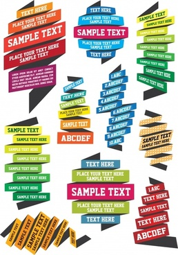 infographic design elements modern 3d twisted lines shapes