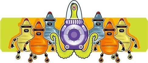 Vector cartoon aliens