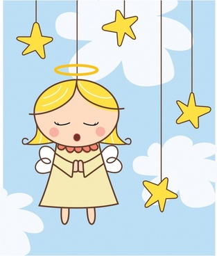 angel background hanging sketch handdrawn cartoon character