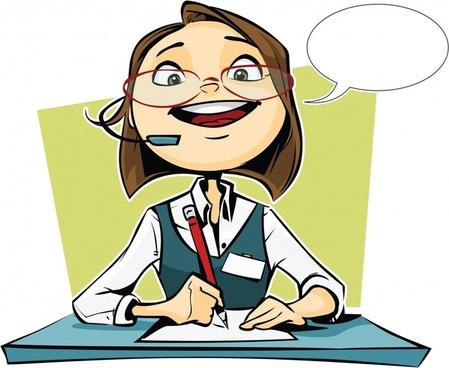 vector cartoon attendant