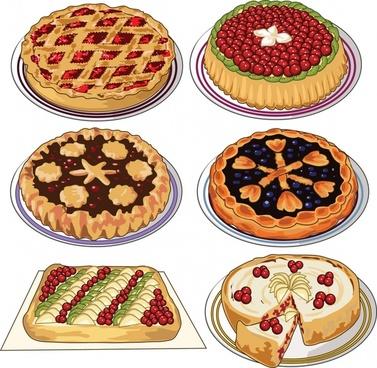 vector cartoon bakery biscuit cake