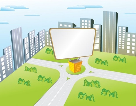 vector cartoon billboard