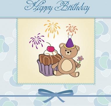 vector cartoon birthday tarts