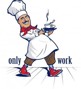 vector cartoon chef character