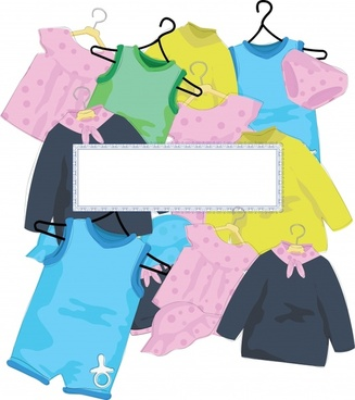 vector cartoon children clothes