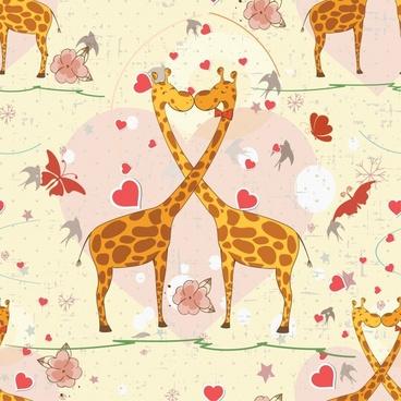 vector cartoon cute giraffe