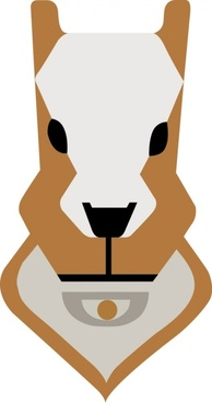 Vector cartoon dog face