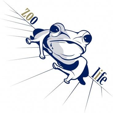 vector cartoon frog animal images