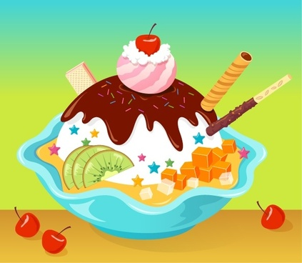 Vector cartoon ice cream