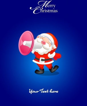 christmas banner cute santa claus icons sketch