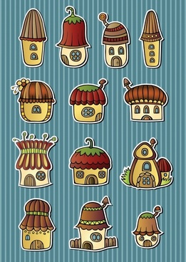 vector cartoon mushroom house