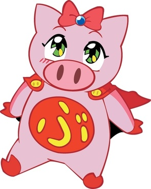 vector cartoon pig