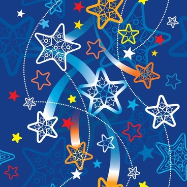 vector cartoon star pattern lines