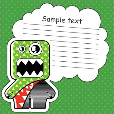 vector cartoon stickers dialog