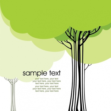 trees background flat colored handdrawn sketch