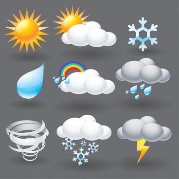 vector cartoon weather lightning umbrella fog