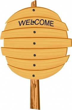 welcome signboard template classic wooden decor